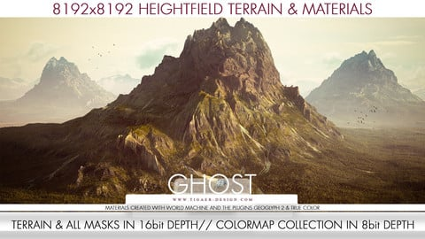 8k Heightfield Terrain & Materials - The Ghost