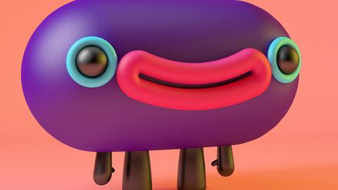 Smiling Cartoon Pet