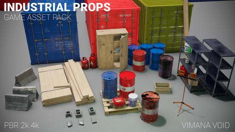 Industrial props - Game asset pack - PBR - 2k/4k