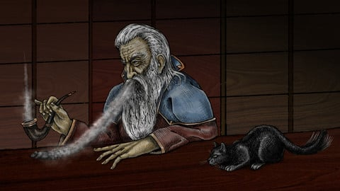 A Wizard and His Cat