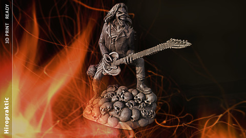 Eddie skull the form of a statuette 3D print model
