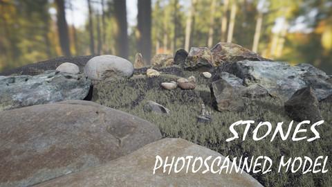 Stones Photoscanned 3d models