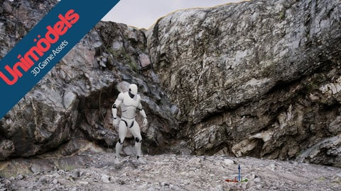 Unimodels Stone Walls Vol. 1 for Unreal Engine 4.18 or higher