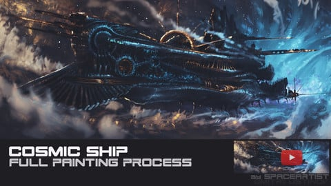 Cosmic Ship [full painting process in Photoshop]