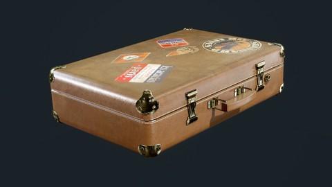 Leather Suitcase Luggage Travel Hotel Game Ready