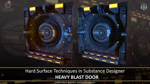 Hard Surface Techniques in Substance Designer - Heavy Blast Door