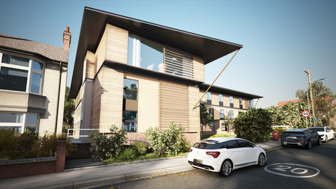3d Rendering of an Exterior Daylight with 3ds max + Vray