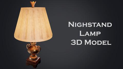 Nightstand lamp 3D Model
