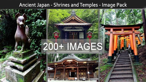 Ancient Japan - Shrines And Temples - Image Pack (200+)