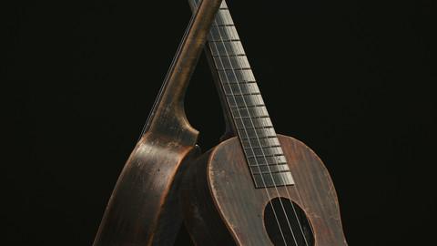 Ukelele Low-poly 3D model
