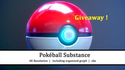 FREE  |  Pokéball  |  100% Substance Designer  |  .sbs