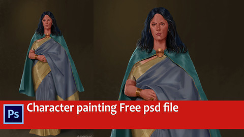 Character illustration free psd file