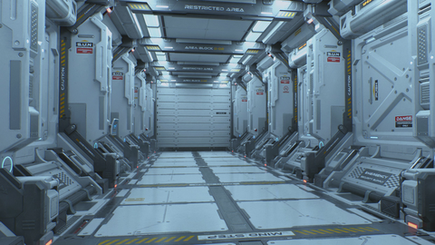 Sci-fi Corridor - UE4 Project File