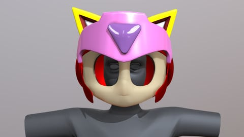 Samurai Pizza Cat, Polly Helmet - 3D Printable Files