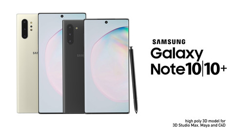 Samsung Galaxy Note 10/10+ high poly 3D model