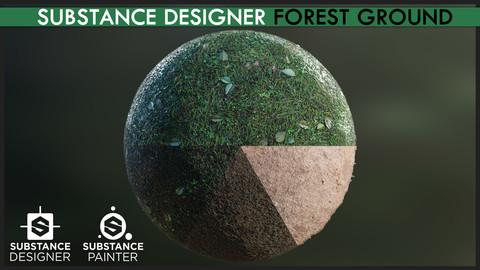 Substance Designer Forest Ground