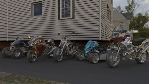 12 Motorcycles Pack