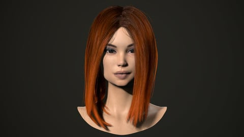 PBR realtime hair for Abella.