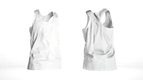 Basic white male tank top