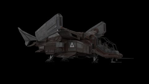 Sci Fi Spaceship - Battle Ship 3D model