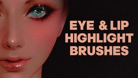EYE AND LIP HIGHLIGHT BRUSHES | PHOTOSHOP