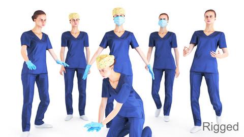 Animated medical nurse 14