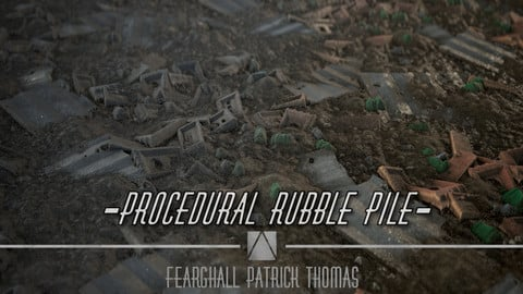 Procedural Rubble Pile + 4k Texture Set