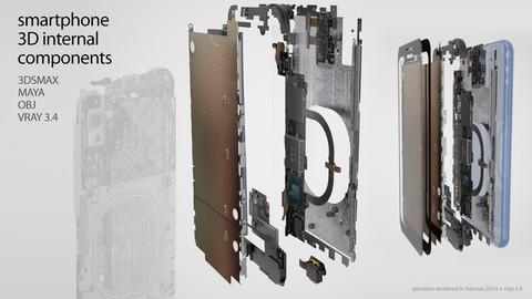 Generic Smartphone 3D components set