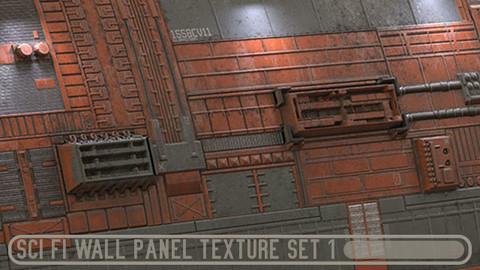 Sci fi wall panel texture set 1