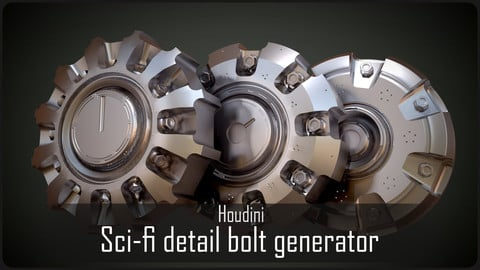 Sci-fi detail bolts generator