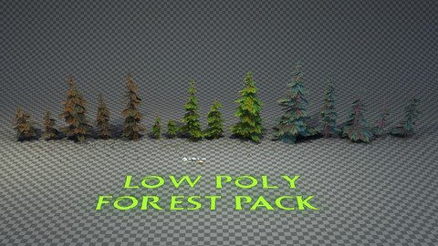 Low Poly Stylized Forest Pack