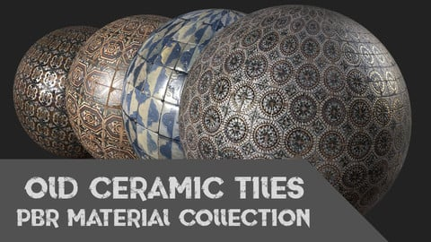 Old Ceramic Tiles Material Collection