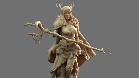 Druid Miniature for 3d printing