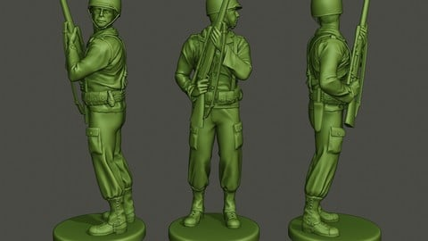 American soldier ww2 Stand Cover A5
