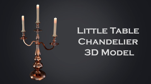 Little table Chandelier 3D Model