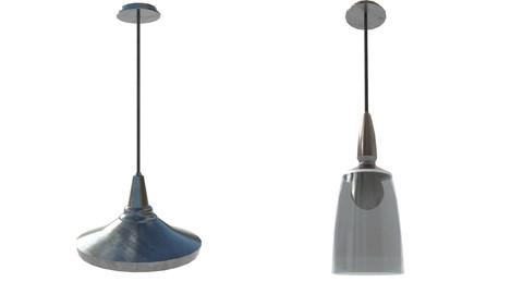 Game-Ready Indoor Hanging Lamps with 4K-PBR Texture Set