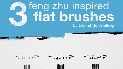 Feng Zhu Inspired Flat Brushes