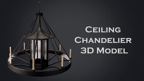 Old chandelier 3D Model