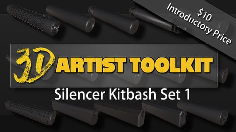 3D Kitbash Silencer Set: Volume 1