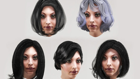 Woman`s hairstyles (bob haircut) 5 types
