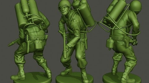 American soldier ww2 action A6