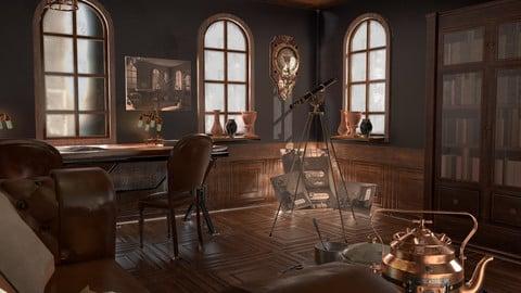 Steampunk interior props