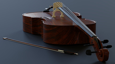 Cello - 3D model prop gameready