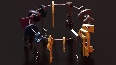 Keys - Low Poly Package