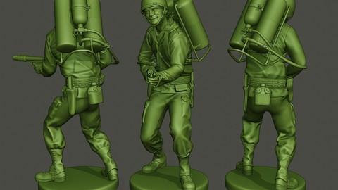 American soldier ww2 fire A6