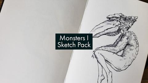 Digital Sketch Pack: Monsters 1