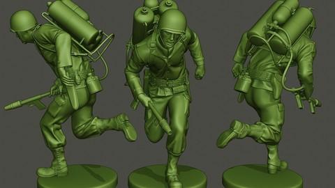 American soldier ww2 run A6