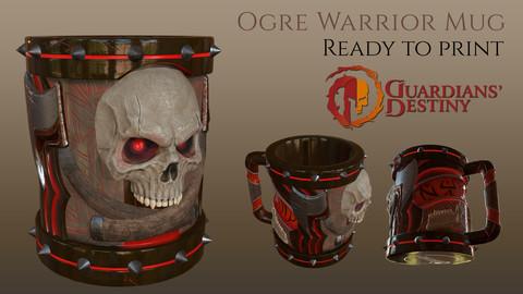 Ogre Warrior Mug STL + Obj
