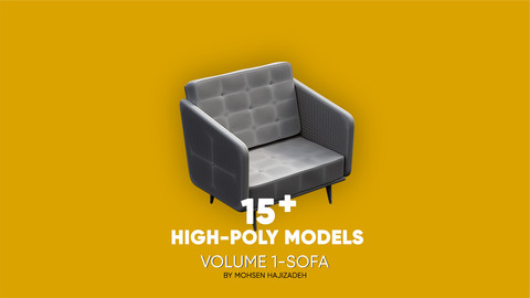 15 plus high-poly models for 3Ds Max users
