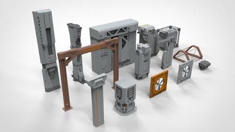 sci-fi Architecture kitbash 7